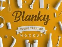 Blanky – Scene Creator Mockup Sample Free PSD
