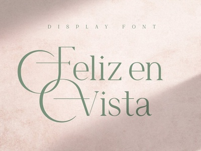 Feliz en Vista – Display Font Free Sample