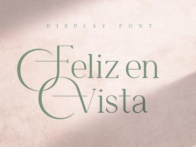 Feliz en Vista – Display Font Free Sample