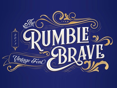 Rumble Brave Vintage Font Free Sample