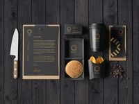 Cafe Stationery Mockup Free PSD