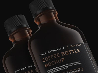 Coffee Flask and Bottle Mockup Sample