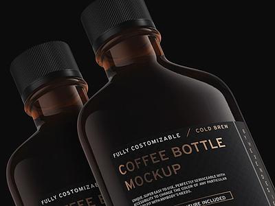 Coffee Flask and Bottle Mockup Sample bottle mockup coffee mockup freebies