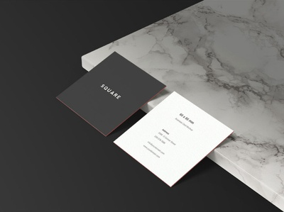 Square Business Card Mockup Sample