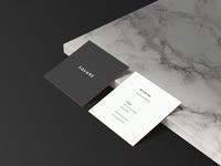 Square Business Card Mockup Sample