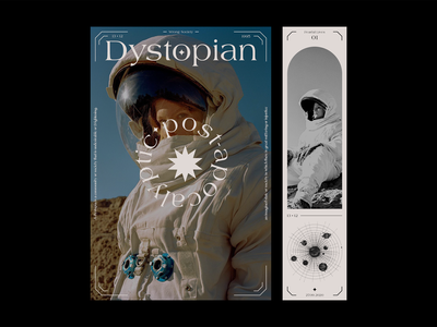 Dystopian blue colors film photography art poster dystopian