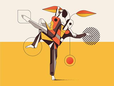 Orange Ecstasy passion orange ecstasy dance colors vector illustrator illustration