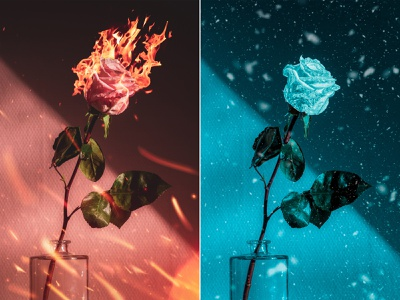 Fire and Ice photoset graphicart graphicdesign digitalart composite  image photomanipulation photoshop