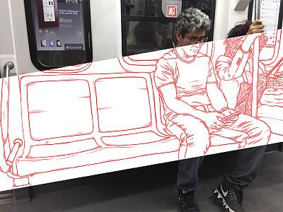 The Line Side subway photoshop digitalart design illustration