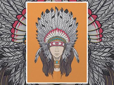 Ancient Feathers woman photoshop feathers digitalart design illustration