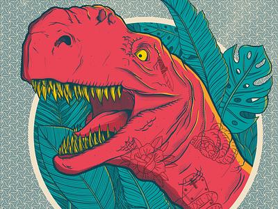 DinoSketch Jurassic World tattoo sketch movie dinosaur photoshop design illustration
