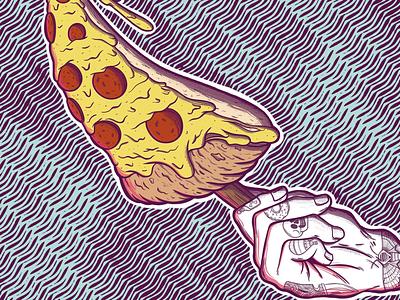 Pizza Love tarro rgb color adobe photoshop art digital illustration pizza