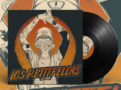 Tribute to Los Petitfellas creative illustrator photoshop adobe color music sketch awards vinyl illustration