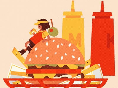 DOUBLE burger vector vector illustration digital art digital illustration illustration