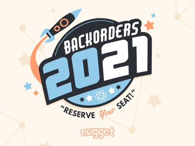 Backorders 2021 logo branding retro space vector illustration