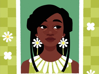 Elle girl character portrait art vector illustration vector illustration digital art