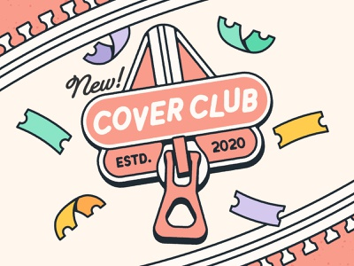 Cover Club branding logo design club tickets vector illustration logo