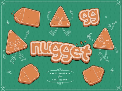 Nugget Holidays gingerbread man holiday card holidays gingerbread christmas digital illustration vector illustration