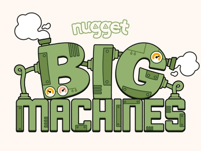 BIG Machines adobe illustrator cc adobe illustrator kids design vector logo factory machines
