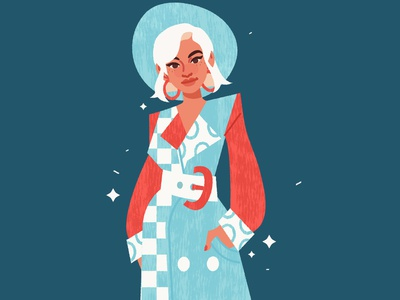 Lookin' Sharp girl fashion vector illustration digital art digital illustration vector illustration