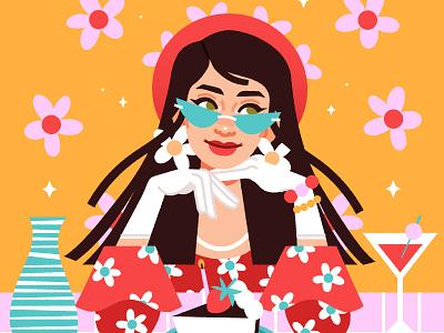Charly DTIYS girl design portrait vector illustration digital art digital illustration vector illustration