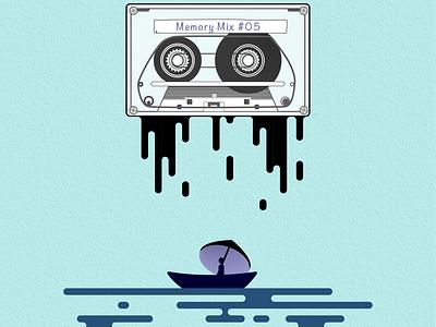 Memory Mix #05 - Dripping Memories vintage memories mixtape illustration vectorart