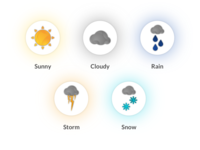Weather Icon Elements