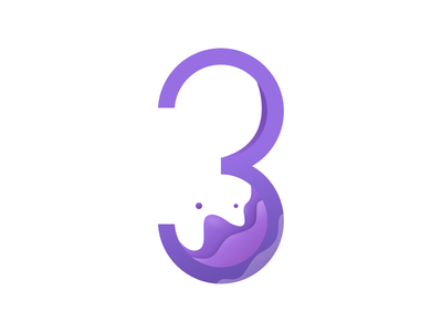 3 Dribbble redesign 3 numericlogo logo numbers