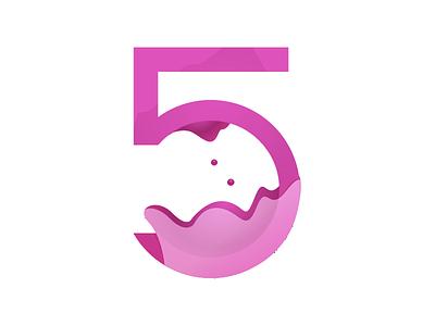 5 redesign 5 numericlogo logo numbers