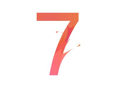 7 logo 7 redesign numbers numericlogo