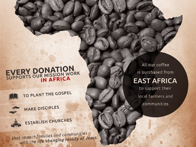 Coffee + Missions africa canvas print