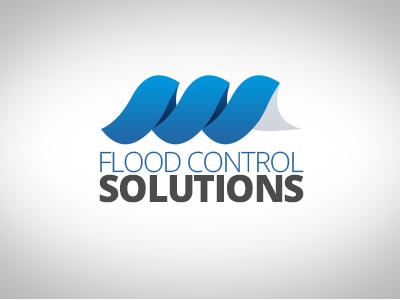 Flood Control Solutions Logo logo waves