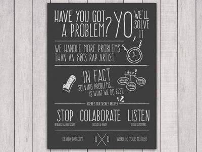 Vanilla Ice / UX Team Manifesto Poster vanilla ice