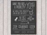 Vanilla Ice / UX Team Manifesto Poster