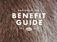 Darigold Benefit Guide Typography