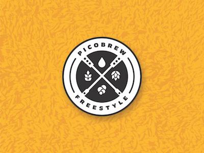 Picobrew Freestyle  ingredient paddle homebrew brewing beer grain hops badge