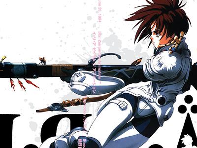 Iria: Zeiram collage sci-fi typogaphy blood 1990 anime