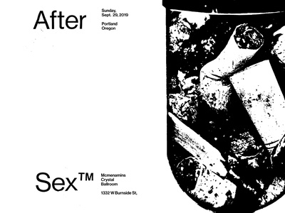 Cigarettes After Sex poster gigposter gigposters pill typography poster sex monochrome typography
