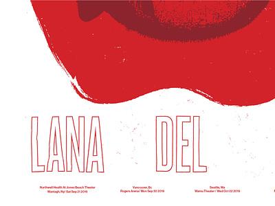 Lana Del Ray USA Tour typography gigposter lana del rey apple