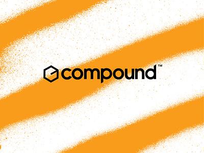 Compound Logo and Wordmark portland typography sans serif geometric spray can spray paint wordmark logo
