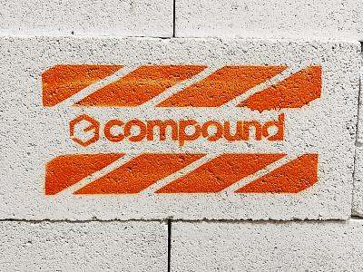 Stencil construction hexagon streetwear streetart portland cinderblock spray paint spray can logo stencil