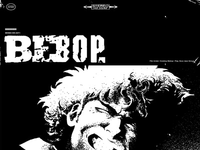 Bebop cowboy bebop texture typography wip anime record album artwork album art record cover
