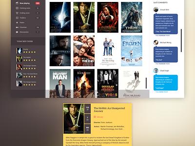 A.Movie App UI free psd movie ui ux web themeforest webdesign website grid layout design