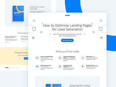 Simpl landing page for HubSpot webdesign inbound marketing marketing hubspot theme theme theme design ux ui web website landing design landing page hubspot