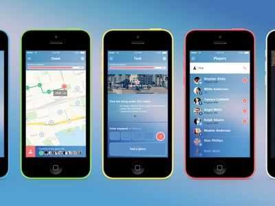 Freebie. Quest App app ios ios7 ui ux quest psd gradient interaction design freebie