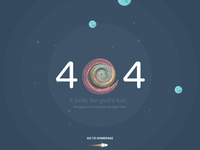 404 error page. Atech psd template