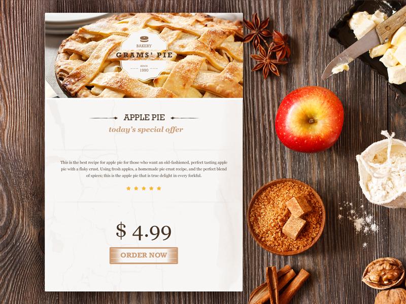 Apple pie widget