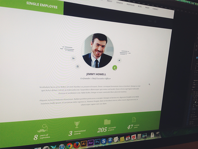 Single Employee OptimaSales web web design ui ux themeforest cv personal page single employee team design about