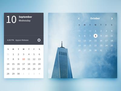 Appon Calendars ui ux web gradient web design flat ui kit blue image background