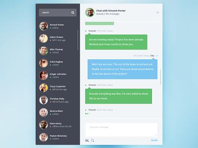 Appon Chat Widget ui ux gradient chat comments message widget webdesign interface user list users